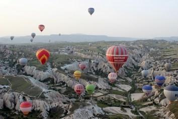 Beautiful morning, hot air balloon, Cappadocia, Turkey