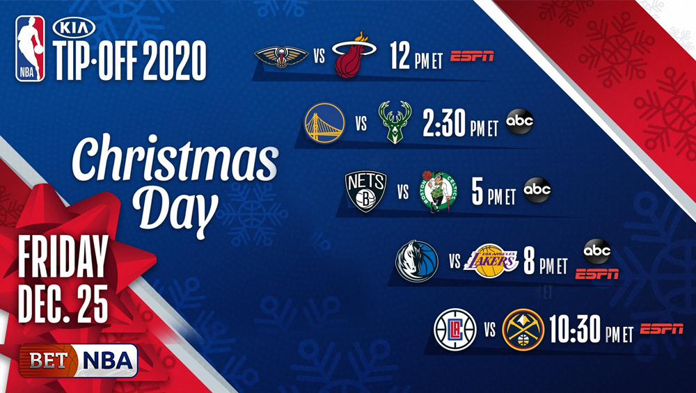 2020-21 NBA Season Opening Night Schedule, Christmas Day