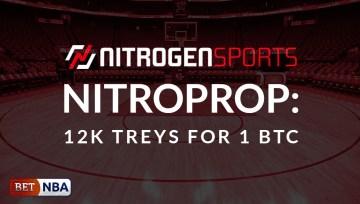 Nitrogen Sports Adds New NBA Promo, NitroProp: 12K Treys For 1 BTC
