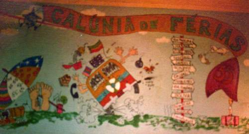 Cada equipe que participava, pintava um pedaço da parede do 5º BEC com ilustrações que narravam sua passagem pelo então Território Federal de Rondônia