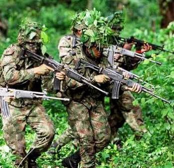 soldados na selva