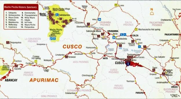 Uma boa opção é ir de Cusco a Ollantaytambo (onde você pode guardar o carro/moto) via Chinchero. Se você não pretende prosseguir até Lima ou Nazca e for voltar pela Interoceânica rumo ao Brasil, e não quiser mais passar por Cusco, uma ótima rota é Urubamba, Calca, Pisac e Pikilaqta, saindo a 45 km de Cusco rumo a Puerto Maldonado.