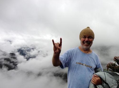 Nas alturas do Wayna Picchu