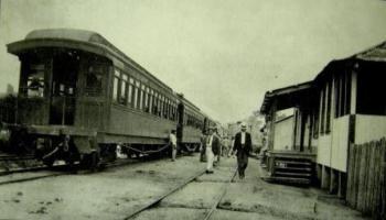 foto: C. Blattmann / arquivo pessoal A estação de Vila Murtinho recebia mais borracha da Bolívia para transporte do que a de Guajará-Mirim. 1916