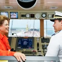 Ipojuca - PE, 14/05/2015. Presidenta Dilma Rousseff durante cerimônia de batismo do Navio Marcílio Dias e viagem inaugural do Navio Petroleiro André Rebouças. Foto: Roberto Stuckert Filho/PR
