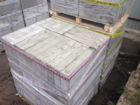 Reinforced fiber fiber Foam concrete blocks, photo