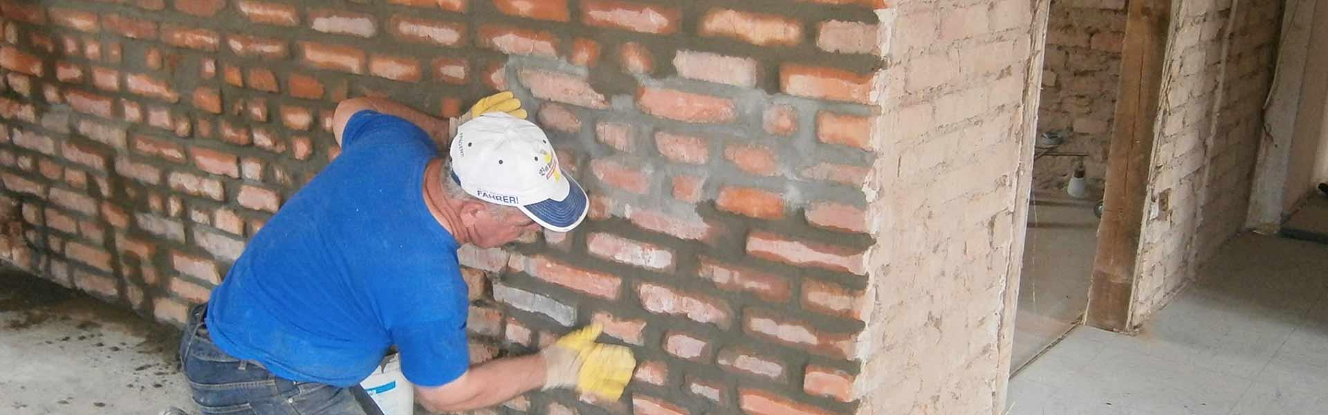 Backsteinwände - beton-wie-neu
