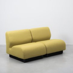 Herman Miller Modular Sofa Long Low Without A Back Or Arms Don Chadwick Yellow Béton Brut