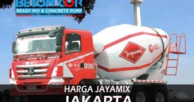 harga beton cor ready mix jayamix jakarta