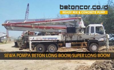 harga sewa pompa beton / concrete pump long boom