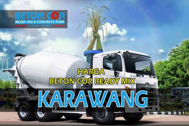 harga beton cor ready mix karawang
