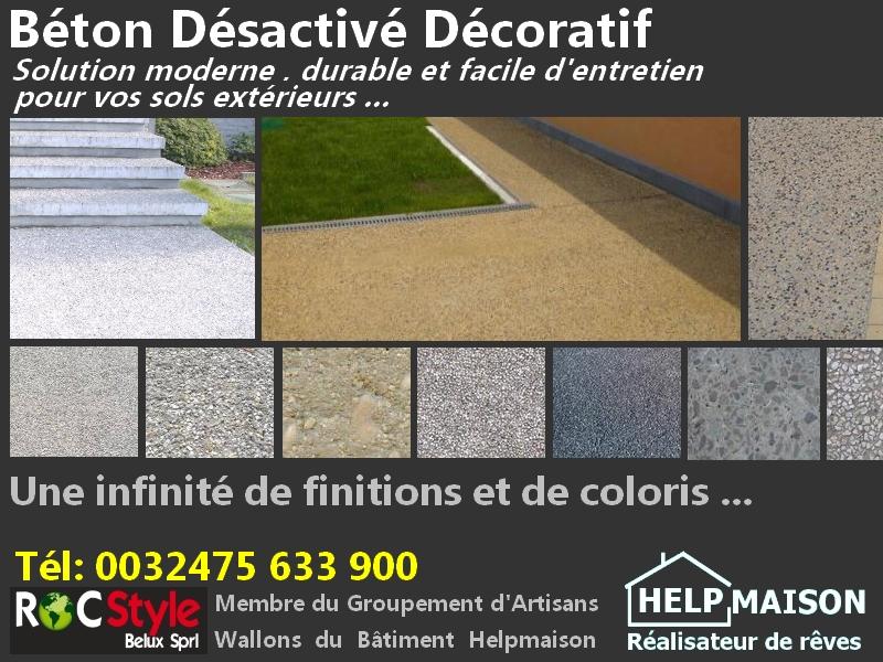 Bton Dsactiv Dcoratif  Solutions durables pour les sols extrieurs