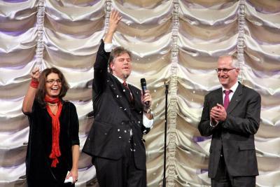 Fantastiskt kul framträdande av John Houdi! Foto: Kjell Duberg