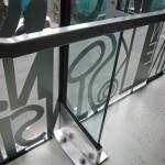 Lärarnas hus – Smyckeskrinet. Detalj av glasväggen. Foto: Anita Stenler