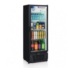 Refrigerador Expositor Vertical Frost Free 414l Profissional 306w Preto Gelopar 110V