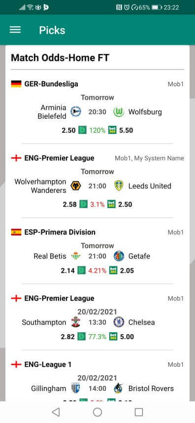 Betpractice android app football system picks how to guide 2