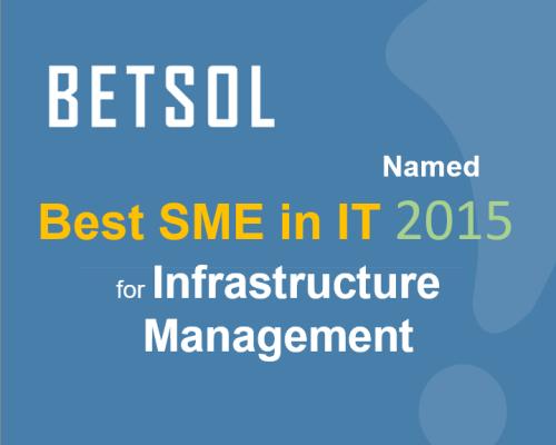 BETSOL Best Infrastructure Managmenet 2015 - No Button