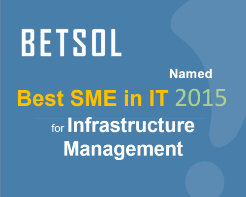 BETSOL Best Infrastructure Managmenet 2015 - No Button