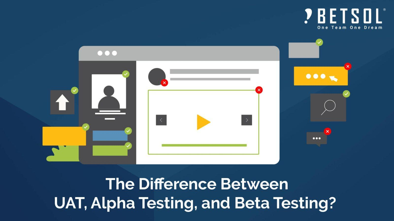 The difference between UAT, Alpha Testing and Beta Testing