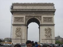 The L'arch de Triomph.