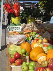Produce galore at the market.