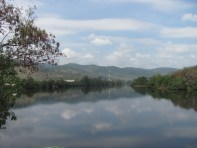 The Kampot River from the deck of the Greenhouse.