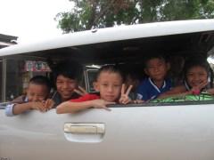 Friendly Cambodian children.