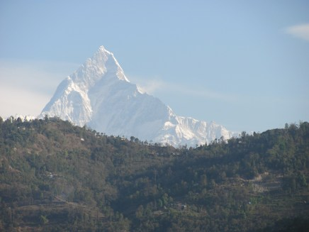 The Annapurna Massif - part of the Himalaya range.