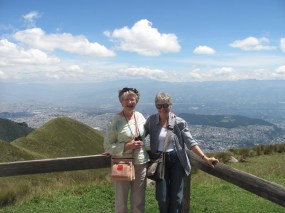 Over 9,000 ft. above sea level from volcano over looking Quito.