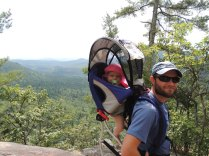 Charlotte's first hike in the White Mountains