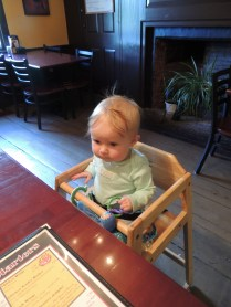 first restaurant experience as a (non-paying) customer...she ate off the kid's menu!