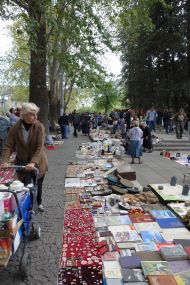 Dry Bridge, a popular tourist sight in Tbilisi that sells everything, but mainly lots of Soviet era junk.
