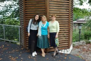 My host cousin and host mom here in Kutaisi.