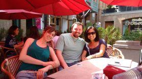 Celebrating Danny's birthday at brunch, a huge splurge for a PCV.