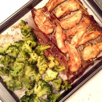 Sheet Pan Asian Chicken and Broccoli