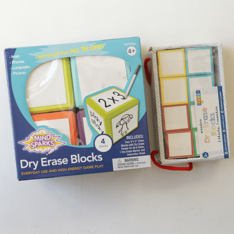 Dry erase blocks