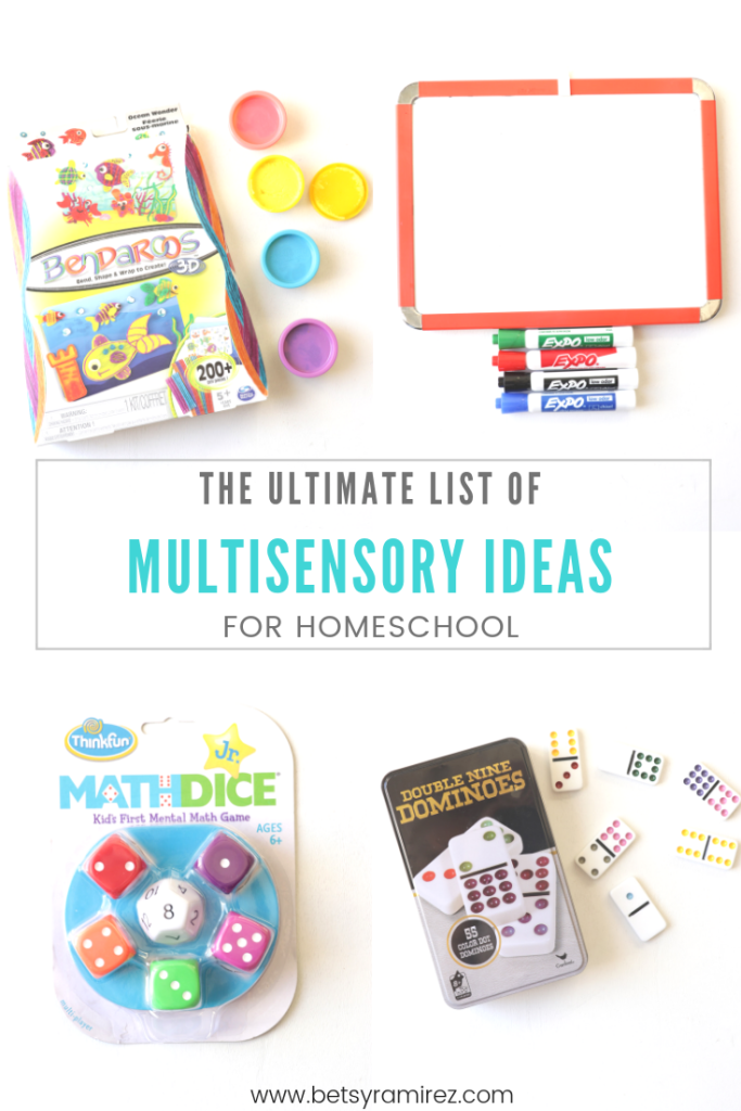 multisensory ideas for homeschool