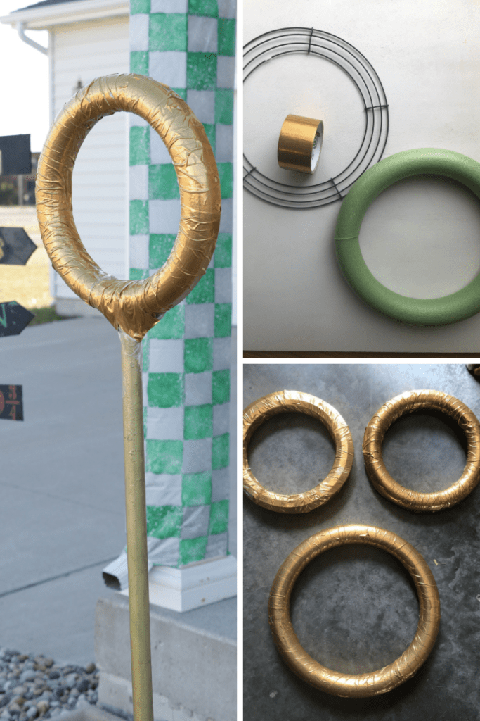 DIY Quidditch rings