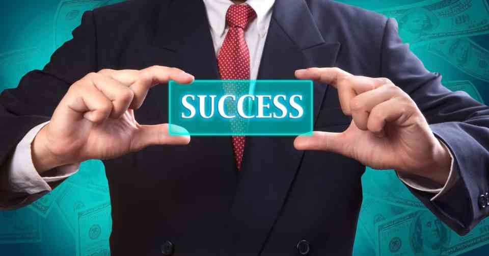 Success teal sign