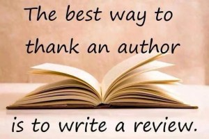 The best way to thank an author is to write a review