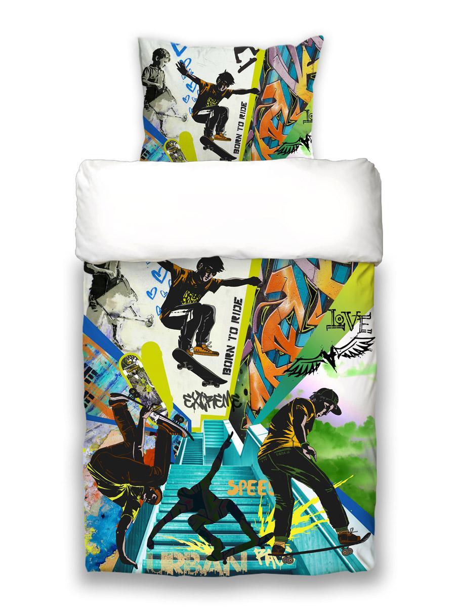 """155x220 cm beties """"Graffiti Scooter"""" Jugend Wende Bettwäsche ca"""