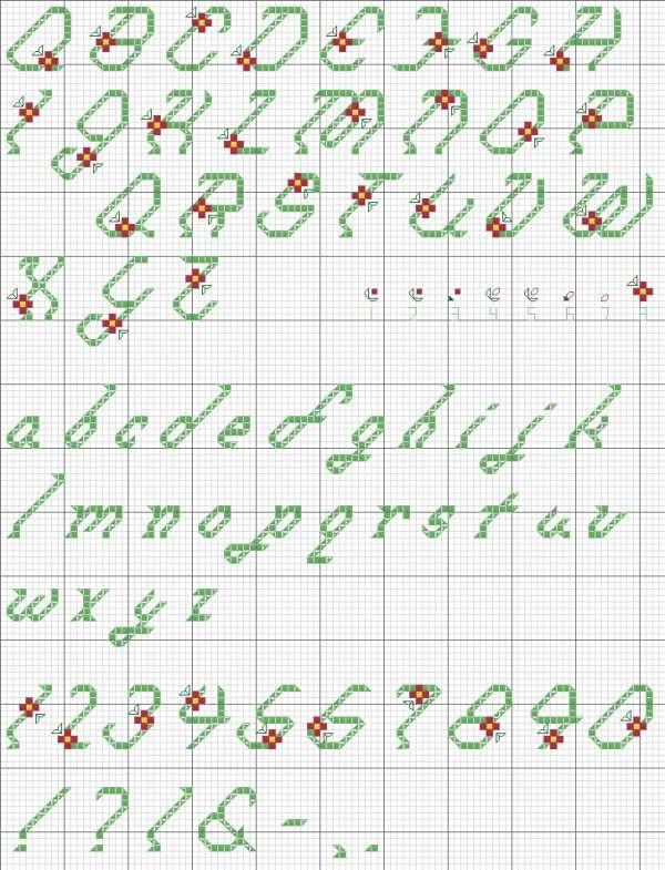 Free Cross Stitch Alphabet Patterns : cross, stitch, alphabet, patterns, Floral, Alphabet, Cross, Stitch, Pattern