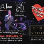 Bill A. Jones Sings Song Stylings of Love on Saturday, February 15th