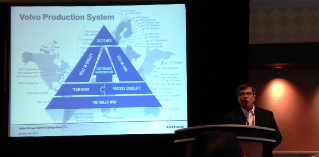 Mr. Ebly Sanchez presents the Volvo Production System, POMS Atlanta May 2014