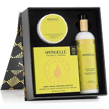 Mother's Day Gifts: Spongelle Gift Set in Coconut Verbena, $40, Spongelle