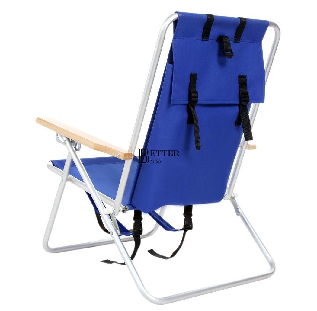 Beach Chair Backpack Chair Blue Folding Camping 253lb