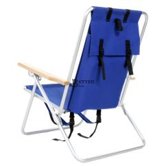 Back Pack Chair Swivel Rockers Chairs Beach Backpack Blue Folding Camping 253lb