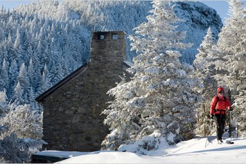 winter stay at the stone hut