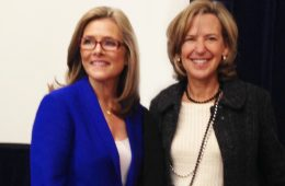 Felice Shapiro and Meredith Vieira