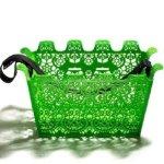 green bike basket